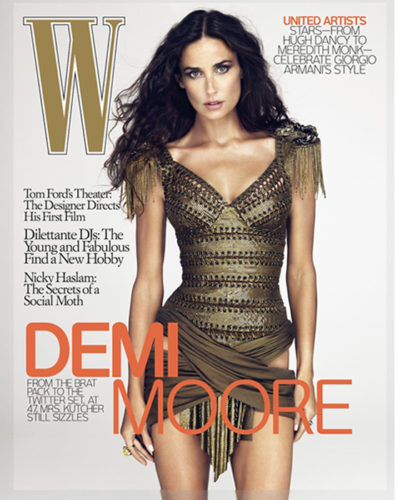 Demi Moore W Cover (Retouched)